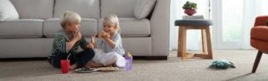 Kids Eating on Flooring with MoHawk Carpet - Macomb IL