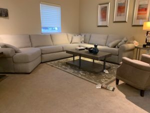 Sectional Sofa with Coffee Table